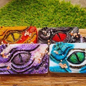 Homemade dragon soap bars